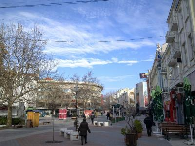 The blue sky of Plovdiv